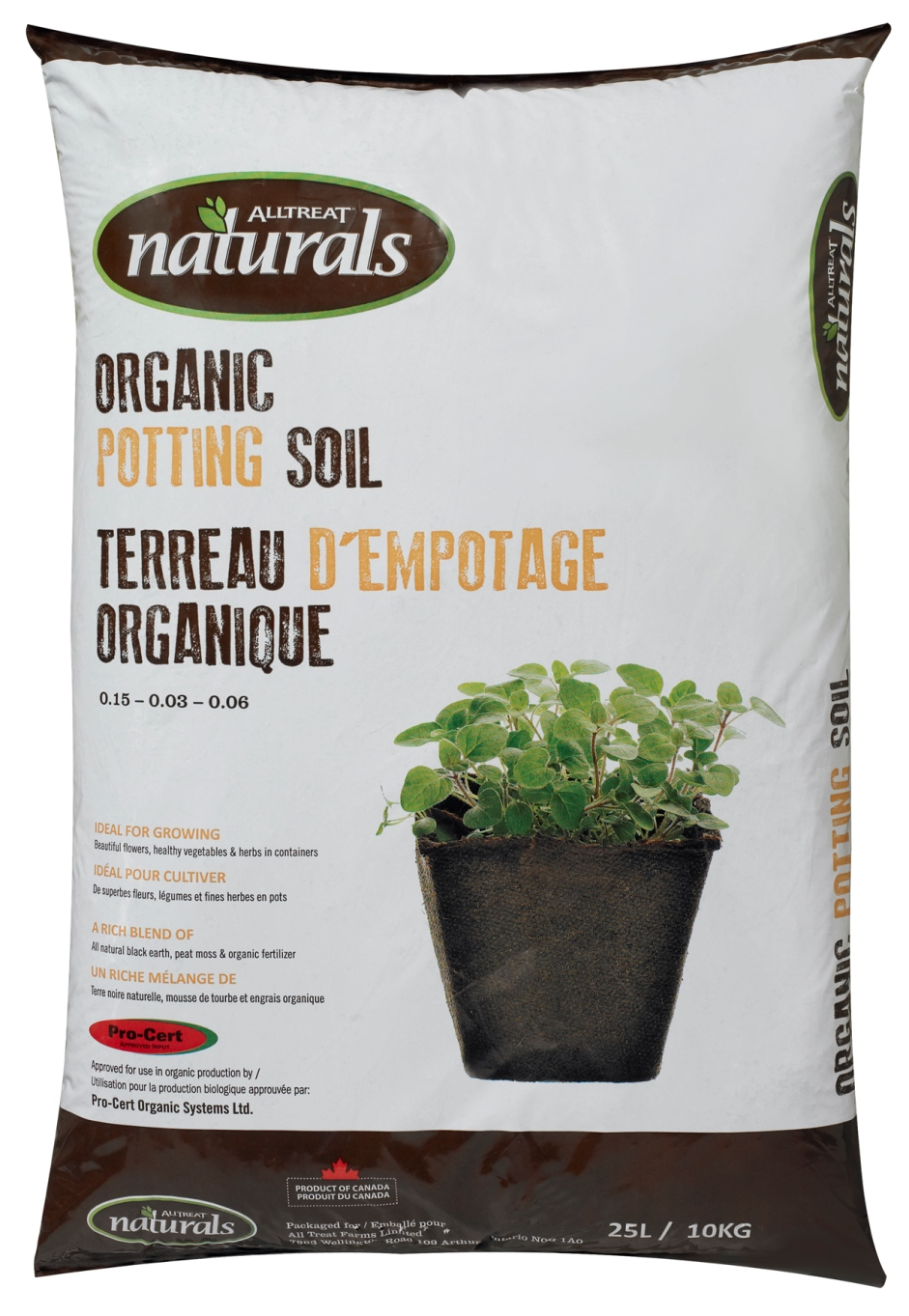 Naturals organic potting soil all treat beta for Bulk organic soil